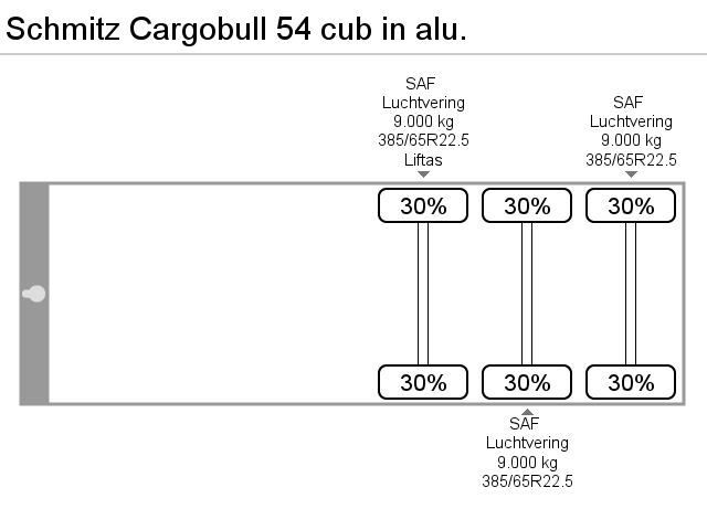Schmitz Cargobull 54 cub in alu.