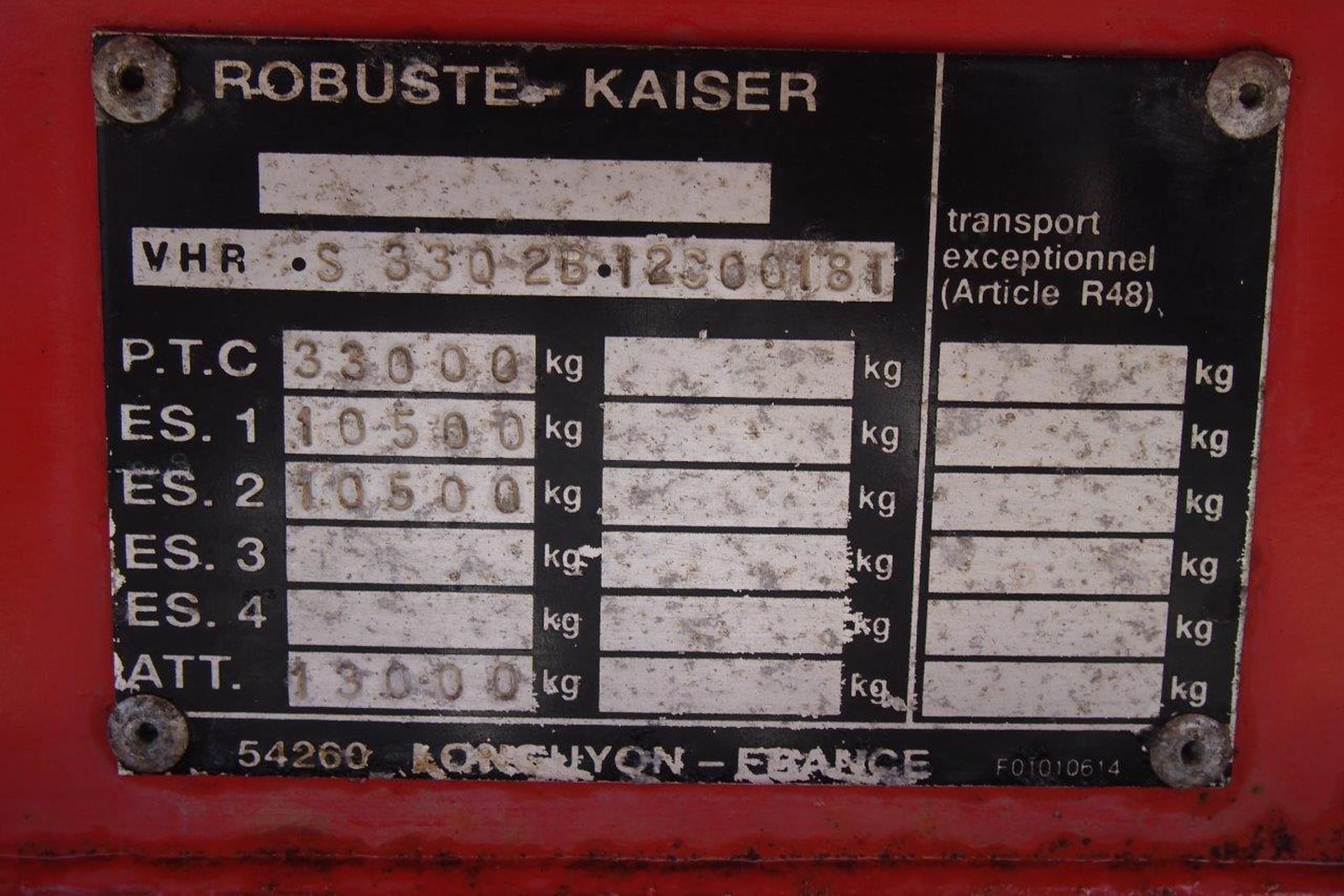 Robuste Kaiser 22 cub in steel